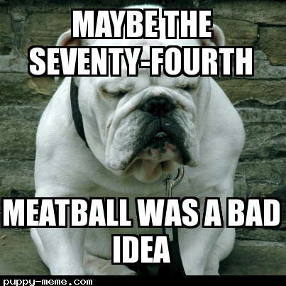 Meatball dog