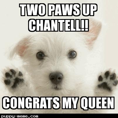 Congrats puppy