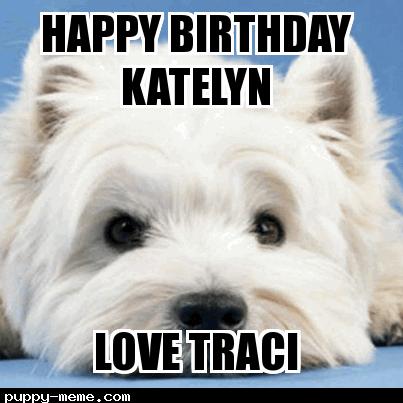 Happy birthday Katelyn
