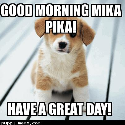 Good morning Mika pika!