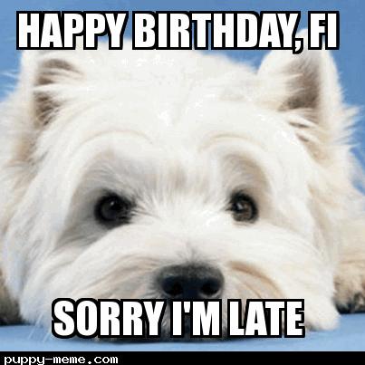 Happy Birthday, Fi